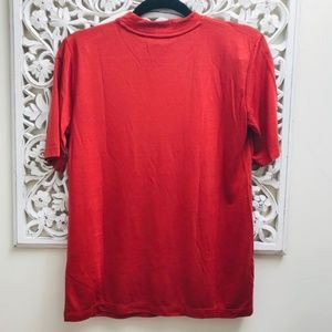 NWT Mockneck Lyocell T-shirt in Dusky Red